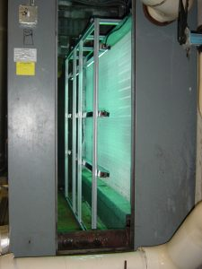 Steril-Aire UVC Enmitter in large air handler