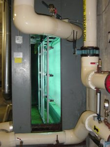 Steril-Aire UVC Emitters in a large air handler