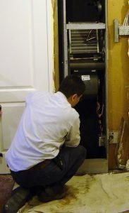 Replacing a fan coil unit