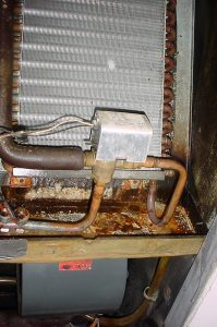 Deteriorated fan coil unit