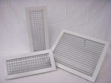 Fan coil supply grilles